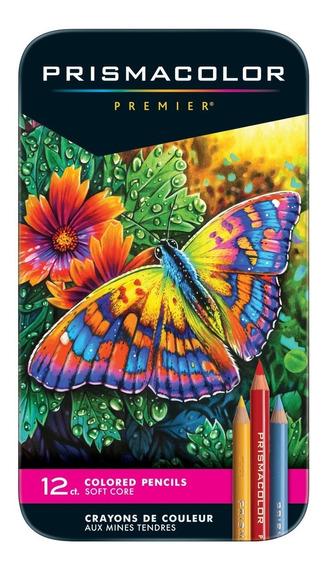 Lápis Prismacolor 12 Cores Soft Core - Já No Brasil