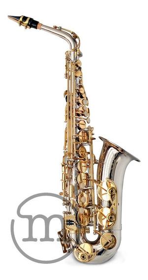 Saxofone Milano Alto Eb Niquelado Com Dourado C/ Estojo Loja