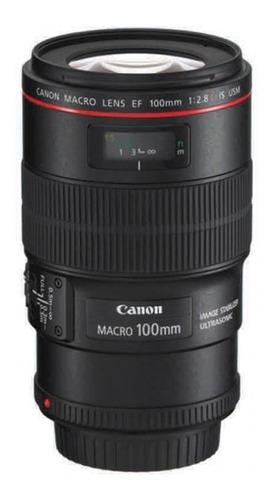 Lente Canon Ef 100mm F/2.8 Is Usm Negro Nuevo En Caja Tienda