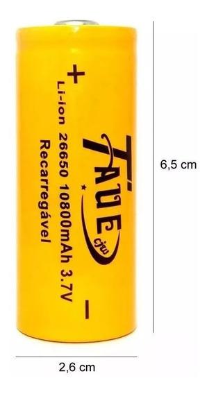 Bateria Recarregavel 26650 10800mah 3.7v Li-ion Nova