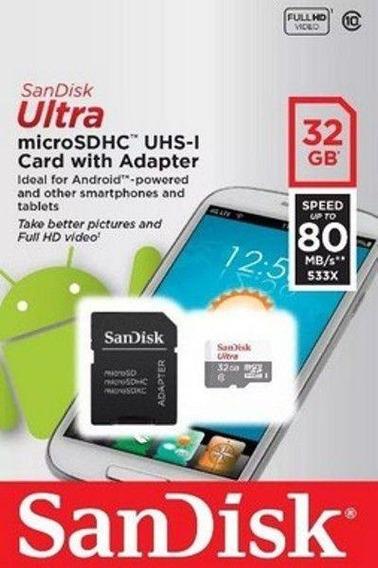 Cartão De Memória Micro Sd Ultra Sandisk 32gb