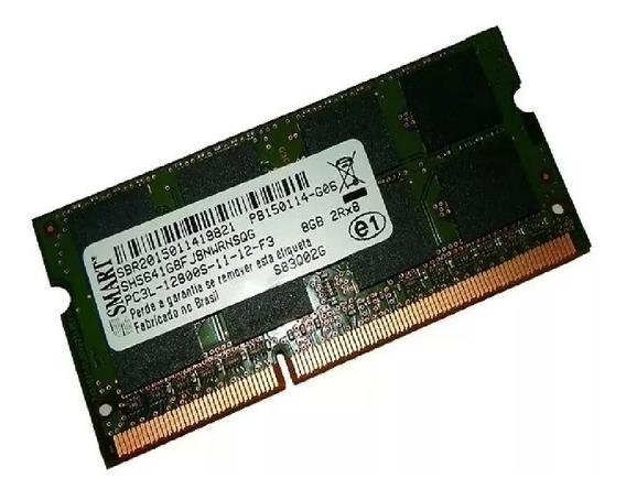 Memória 8 Gb Notebook 2rx8 Ddr3 Pc3l -12800s Smart