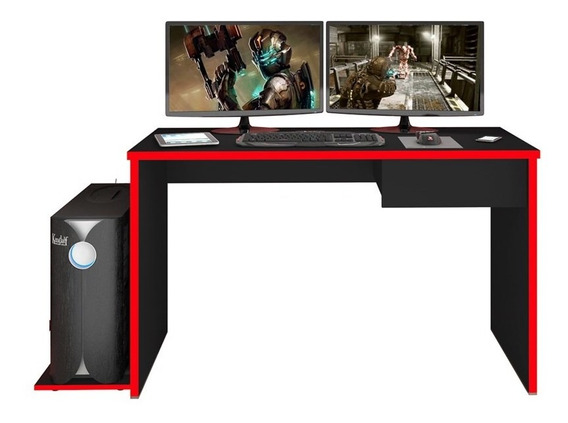 Mesa P/ Computador Notebook Desk Game Drx8000 Preto/vermelho