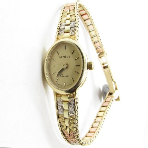 Reloj Oro 14k Florentino Sólido Geneve Dama