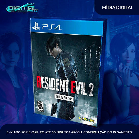 Resident Evil 2 Remake Deluxe Edition Ps4 Original 1 Digital