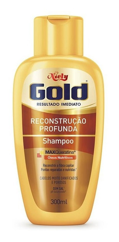Niely Gold Shampoo  Reconstrução Profunda 300ml