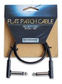 Cabo Para Pedal Rockboard 30cm Flat Patch Cable
