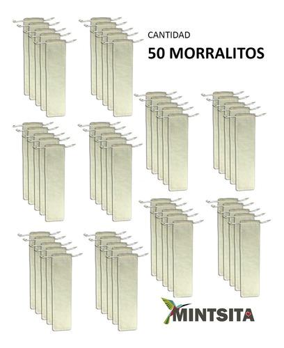 Imagen 1 de 5 de 50 Bolsa Morral Manta 6x25 Cms Para Popotes Y Abanicos