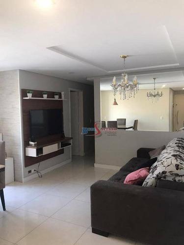 Imagem 1 de 22 de Apartamento Com 3 Dormitórios À Venda, 70 M² Por R$ 495.000,00 - Vila Carrão - São Paulo/sp - Ap2754