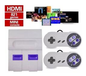 Mini Snes Jogos Retro Clássicos 821 Jogos Hdmi