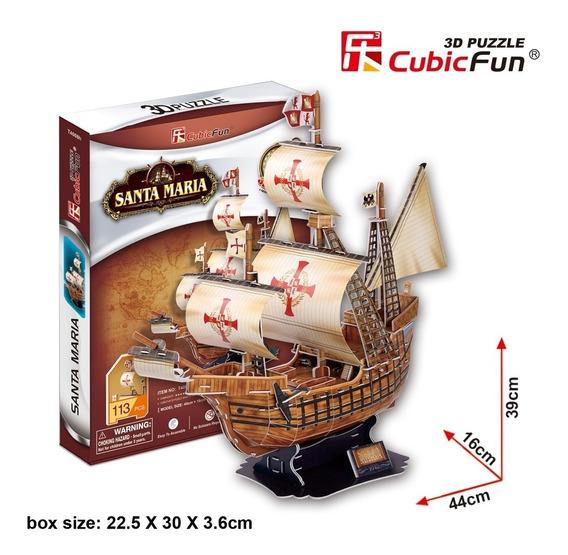 Puzzles 3 D Santa Maria 113 Piezas Cubicfun