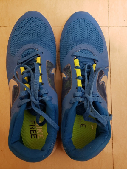 Zapatos Deportivos Unisex. Color Azul. Talla 38