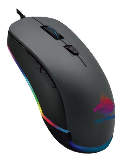 Mouse Gamer Eagle Warrior Flame Rgb 3200dpi Usb 6 Botones