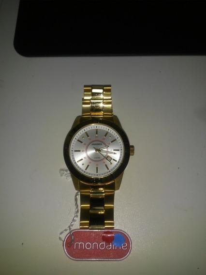 Relógio Mondaine Dourado Unisex
