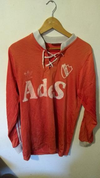 Camiseta De Independiente adidas Ades Manga Larga, Cordones