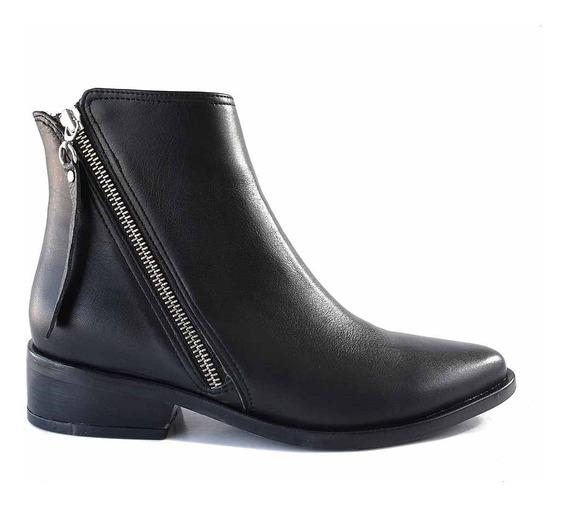 Bota Cuero Mujer Briganti Zapato Botita Cierre - Mcbo24928