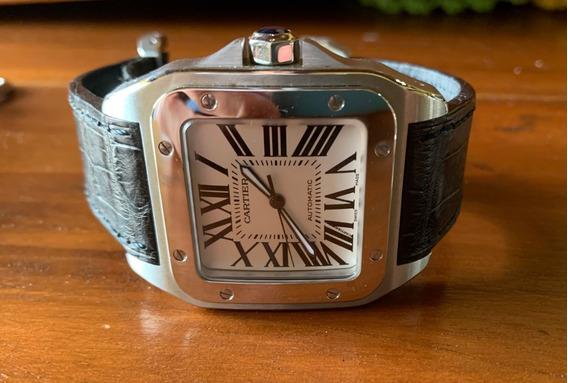 Relógio Cartier Santos 100 Xxl Completo