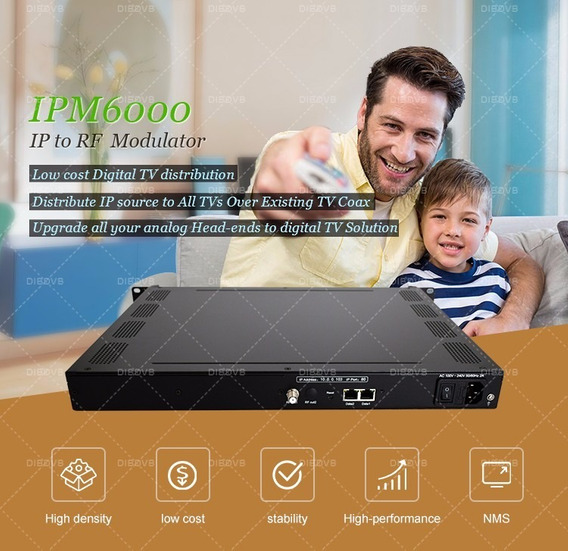 Modulador Isdb -t - Ip / 6 Mux 50 Mhz - 960mhz - 2ge
