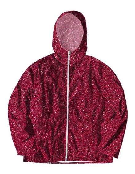 Jaqueta Corta Vento Forrada Com Bolsos Rosa Pink Star