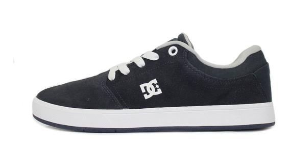 Tênis Dc Shoes Crisis La Azul Marinho/cinza/branco Original