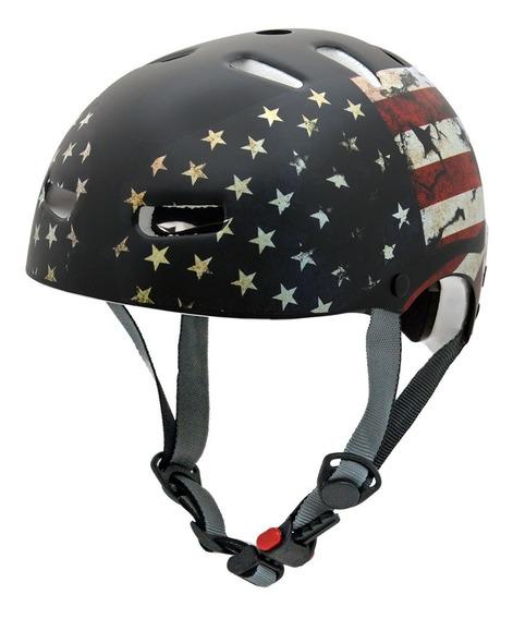 Capacete Kraft Bike Usa M Skate Patins Roller Nbr16175