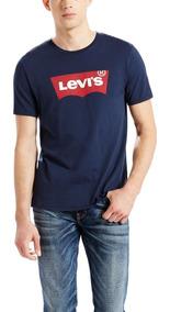 Camiseta Levis Masculina Logo Batwing Classic Azul