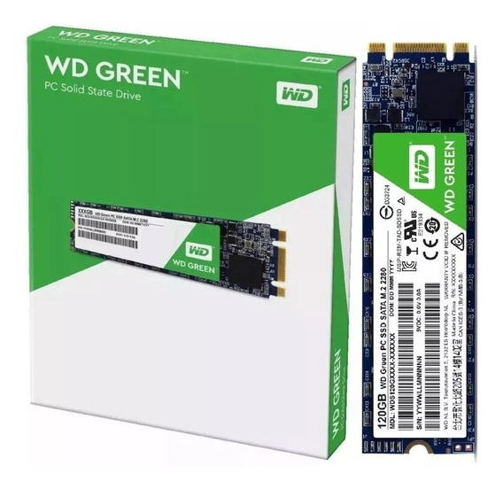 Hd Ssd M.2 M2 Sata Wd Green 120gb 8821 Western Digital