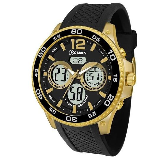 Relógio X-games Masculino Ref: Xmgpa001 P2px Anadig Dourado