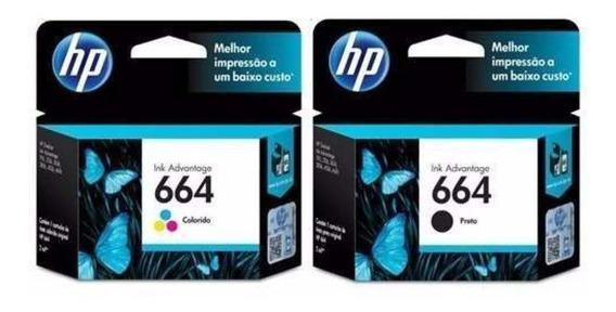 Kit Cartucho 664 Preto E Color Impressora Deskjet 2676