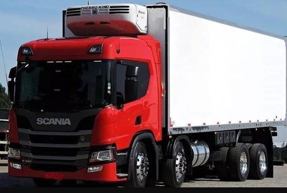 Scania P320 Bitruck Com Baú Frigorifico T 1080 Ano 2019