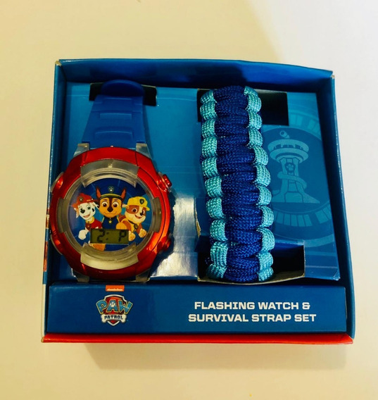 Reloj Paw Patrol Original Led Con Pulsera