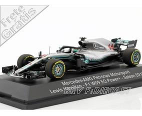 1/43 Minichamps Mercedes Lewis Hamilton 5x Campeão F1 2018