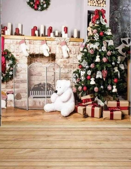 Fundo Fotográfico Gigante 3mx1,70 De Natal Em Tecido