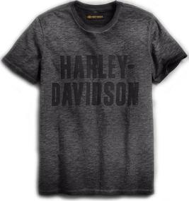 Playera Harley Davidson Mod. 99019-18vm Jersey Logo Gris / J