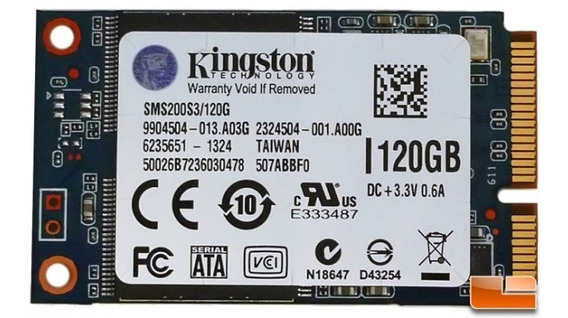 Ssd Msata 120gb Kingston Sms200s3/120g