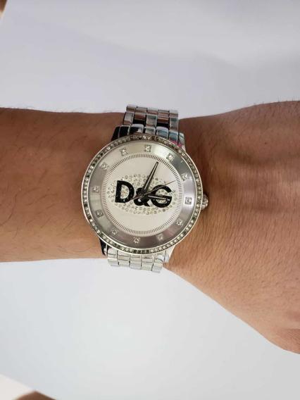 Relógio D & G Prata Dw0145 Original