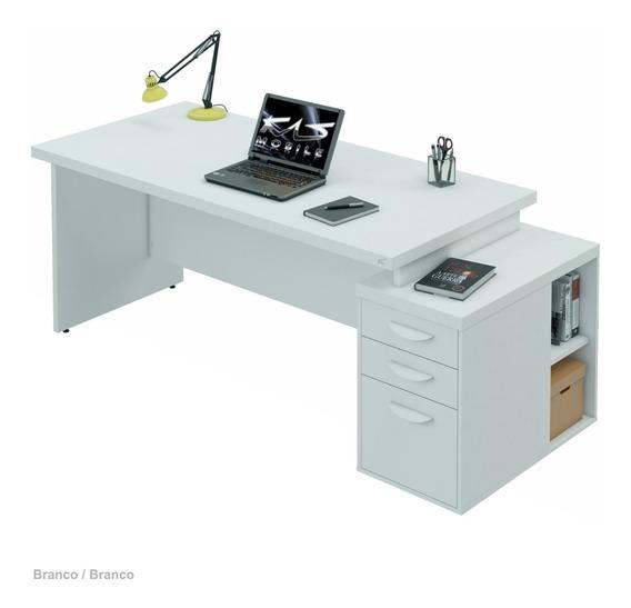 Mesa Para Escritório Tampo 40mm L1.95x P80 | Várias Cores