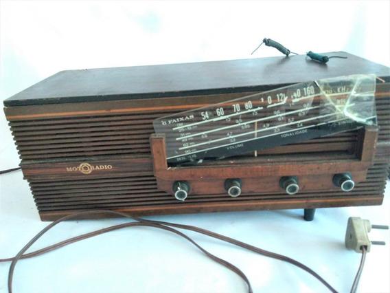 Antigo Radio Motoradio Rc-m61 Em Madeira Só Para Retirada