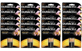 Kit Duracell Duralock Pilha Alcalina 9v - 20 Unidades