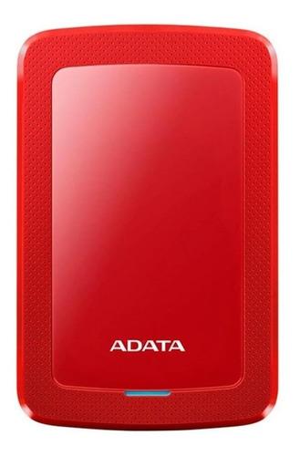 Imagen 1 de 3 de Disco duro externo Adata AHV300-1TU31 1TB rojo