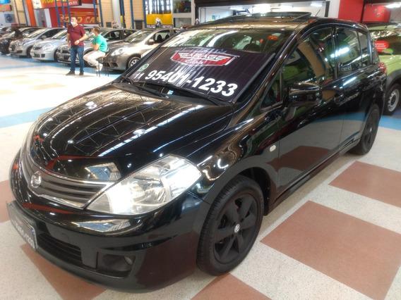 Nissan Tiida Sl.mec+teto+couro Completo
