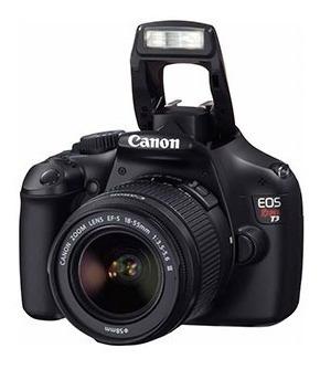 Câmera Eos Canon Rebel T3 + Lente + Filtro + Bolsa + 2 Baterias + Cartão Sd + Controle