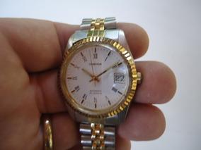 Relógio Automático Cosmos Japan Semi Novo Prata E Ouro