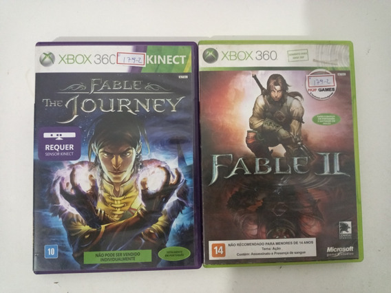 Xbox 360 Fable Ii E Fable Journey Ntsc Original