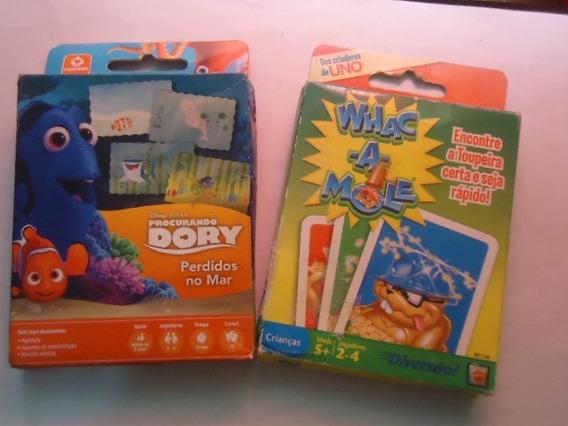 2 Jogos De Cartas - Proc. Dory Perdidos No Mar + Whac A Mole