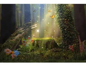 Fundo Fotográfico Tecido Newborn Floresta 2,6x1,7m - Ffj-28
