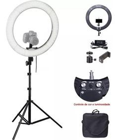 Iluminador Led Ring Light 18 80w 48cm 448 Leds + Tripe 2 M