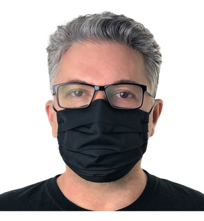 10 Máscaras De Tecido Duplo Não Descartável Com Ajuste Nasal