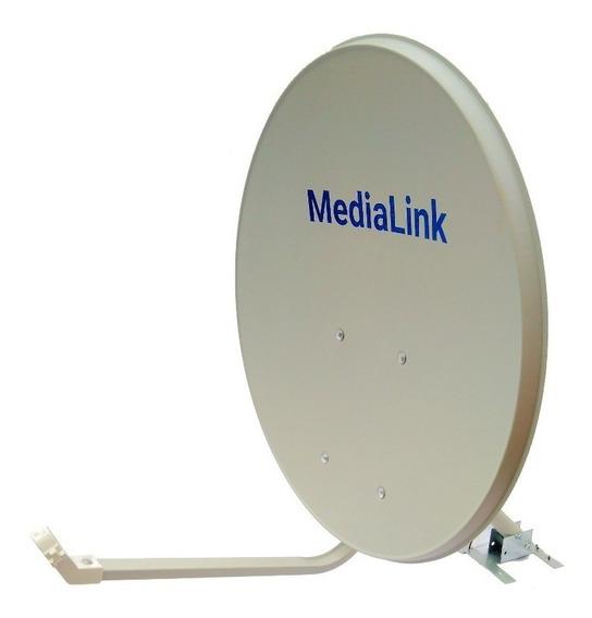 Kit 5 Antena Offset De 60 Cm Banda Ku Medialink Tripé