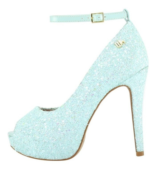 Peep Toe Meia Pata Corte Lateral Week Shoes Tiffany